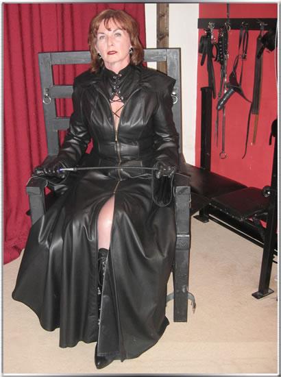 Granny leather femdom